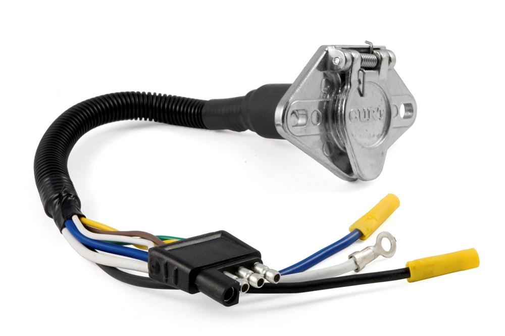4   Way    Flat To    6      Way    Round    Trailer    Wire Adapter