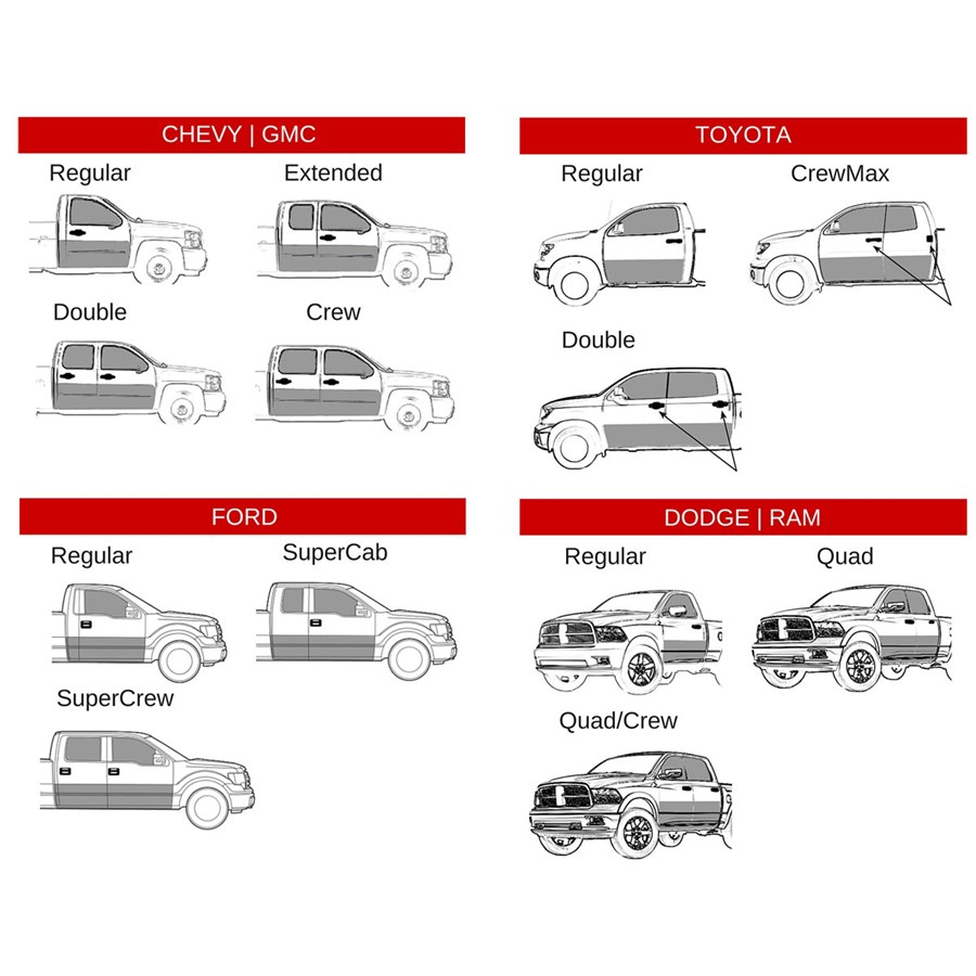 Pickup Bed And Cab Sizes